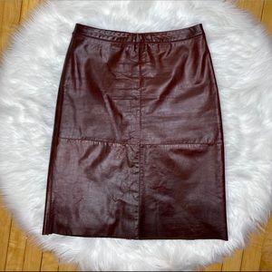 Vintage Gap Brown Leather High Waist Skirt 10